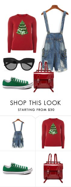 """Untitled #156"" by katarina-kaen ❤ liked on Polyvore featuring Dorothy Perkins, Converse, The Cambridge Satchel Company and Le Specs"
