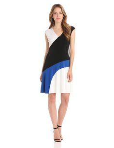 Donna Morgan Women's Extended Sleeve Color Blocked Fit and Flare Dress, Chalk/Black/Azure, 6 Donna Morgan,http://www.amazon.com/dp/B00BRBCJVO/ref=cm_sw_r_pi_dp_Ymt-rb1FEYBVN11E
