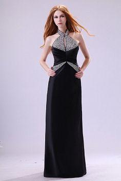 Romantic Black Chiffon Formal Dress - Order Link: http://www.theweddingdresses.com/romantic-black-chiffon-formal-dress-twdn2458.html - Embellishments: Beading , Draped; Length: Floor Length; Fabric: Chiffon; Waist: Natural - Price: 163.08USD