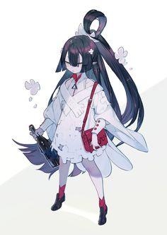 Game Character Design, Fantasy Character Design, Character Design References, Character Design Inspiration, Character Concept, Character Art, Concept Art, Hybrid Art, Anime Art Girl