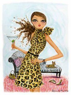 Leopard & Martini - Bella Pilar