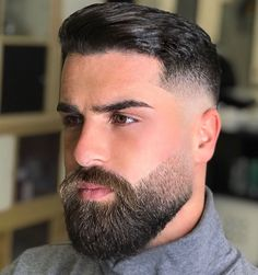 Timeless 50 Haircuts For Men Trends) Faded Beard Styles, Beard Styles For Men, Hair And Beard Styles, Types Of Beard Styles, Short Beard Styles, Medium Beard Styles, Stubble Beard, Beard Fade, Man Beard