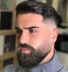 Timeless 50 Haircuts For Men Trends) Medium Beard Styles, Faded Beard Styles, Beard And Mustache Styles, Beard Styles For Men, Beard No Mustache, Hair And Beard Styles, Short Beard Styles, Moustache, Hair Styles
