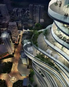 Urban Forest    By the end of 2009, MAD has completed the concept design of a 385 meter high metropolitan cultural complex in the city center of Chongqing – The Urban Forest