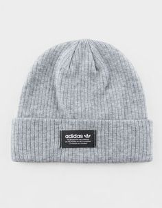 a3cab67d4c1 ADIDAS Originals Ribbed Heather Gray Womens Beanie Adidas Beanie