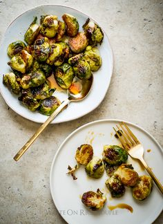 Roasted Brussels Sprouts Recipe with Teriyaki Glaze on WhiteOnRiceCouple.com @Todd Porter (White On Rice Couple) @Todd & Diane (White On Rice Couple)