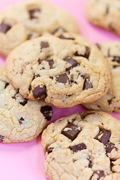 Dark Chocolate Chunk Cookies, Bakery Style - bjl