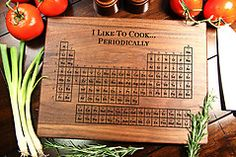 Periodic Table Cutting Board - Engraved Nerd Geek Gift