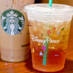 Starbucks in Disney Parks! Disney Logo on Cups!