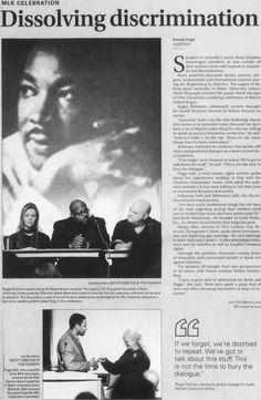 "Post (Athens, Ohio) January 19 2011. Page 1: ""MLK CELEBRATION: Dissolving discrimination."" :: Ohio University Archives"