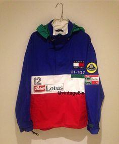 Vintage Tommy Hilfiger Lotus Jacket Formula 1 ferrari #vintagetommyhilfiger #vintagetommy #Tommyhilfiger #tommylotus…