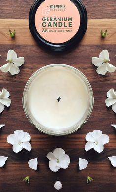 Want the upper hand on last minute visitors? Dim the lights and break out a few Geranium Candles. Any dust bunnies will be all but invisible.