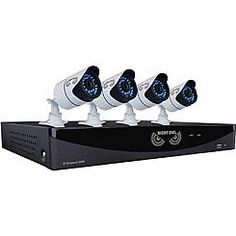 Night Owl Security Products 8-Channel Video Security System w/ 4 High-Resolution 900 TVL Bullet Cameras
