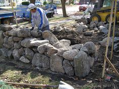 Image result for dry stacked field stone wall