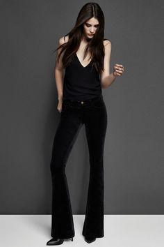 Dressed Up In Black: 1197 Velvet Martini in Black. #JBRAND