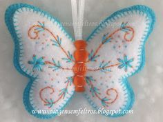 Butterfly felt ornament