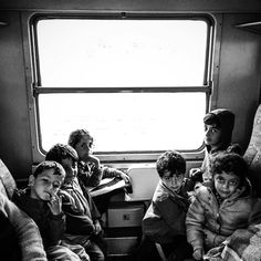 A family waits on board a train preparing to depart Tovarnik Croatia. #refugeecrisis for @TIME by patrickwitty