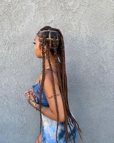 Image in My Posts 🔥 collection by Javeigh 🦋 on We Heart It Big Box Braids Hairstyles, Black Girl Braided Hairstyles, Braids Hairstyles Pictures, Black Girl Braids, Baddie Hairstyles, African Braids Hairstyles, Braids For Black Hair, Girls Braids, Hair Pictures