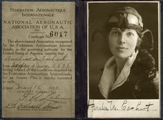 Amelia Earhart's pilot's license. (Courtesy National Portrait Gallery)