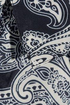 Acne Studios - Bai Printed Chiffon Shirt - Navy - FR38