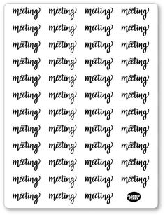 B/W Lettering Mee... added to the shop! View/purchase at http://www.plannerpenny.com/products/b-w-lettering-meeting-planner-stickers?utm_campaign=social_autopilot&utm_source=pin&utm_medium=pin