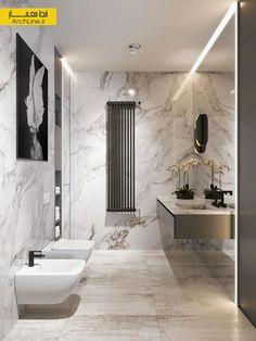 Pink Bathroom: Designs & Decoration Photos - Home Fashion Trend Bathroom Renos, Bathroom Furniture, Small Bathroom, Bathroom Design Luxury, Home Interior Design, Casa Milano, White Marble Bathrooms, Toilet Design, Bathroom Inspiration