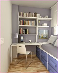 Petite Chambre Ado En 30 Ides Fascinantes Pour Votre Enfant with regard to dimensions 800 X 1000 Kids Small Bedroom Ideas - The color-coded design inside this tiny bedroom stipulates […] Small Teen Room, Small Room Bedroom, Trendy Bedroom, Girls Bedroom, Single Bedroom, Cozy Bedroom, Teen Rooms, Box Room Bedroom Ideas For Kids, Master Bedroom
