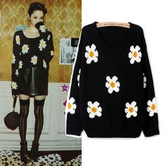 Wholesale 2013 early spring daisy sunflower short sweater, flower knitted sweater,free shipping on AliExpress.com. $150.00