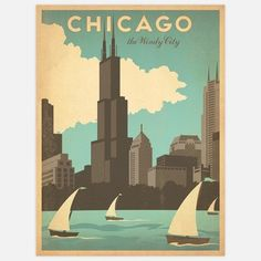 Vintage Travel Posters,  #travel, #posters, #chicago