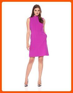 Ellen Tracy Women's Seamed Mock Neck Dress, Viola, 16 - All about women (*Amazon Partner-Link)