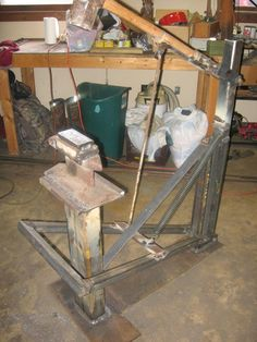 DIY Treadle hammer - could easily make into a pneumatic or electric hammer with…