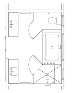 8 x 12 master bathroom floor plans - Google Search (With ...