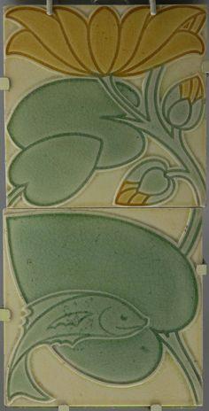 Two tile panel, ca. 1900: Pilkington Tile & Pottery Company