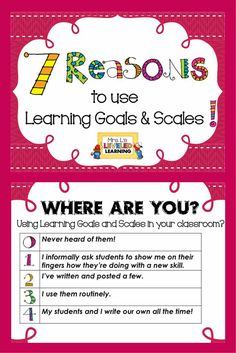 Initially, Marzano Scales were forced on me through some district professional development. After starting to use them I really saw the benefit for students and the response I got from them was amazing!! Here are my top 7 reasons and tons of examples of how I use Marzano Scales in my classroom.