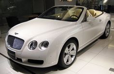 My dream car is a Bentley New Continental GTC creamy-white outside and beige leather inside (just like the picture)!!!!
