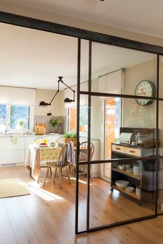 Feng Shui - Apartment Entrance and Mapping Your Life - Feng Shui Home Designs Feng Shui Apartment, Steel Doors And Windows, Glass Room Divider, Apartment Entrance, Glass Office, Home Office Design, Living Area, Sweet Home, New Homes