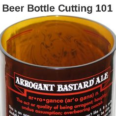 Beer bottle cutting 101 shows you the steps and tools to turn your favorite beer bottle, or any bottle for that matter, into a drinking glass, candle or vase.
