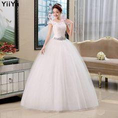 wedding dresses lace white romantic wedding gown fashionable bride