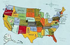 The States of the Nation...I now know I don't know where all the states are located. I helped a 5th grader with her homework!