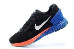 53e0e2f8b0 Women Girl Nike LunarGlide 6 Black Orange Hyper Cobalt Nike Lunarglide