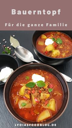Hearty peasant pot with ground beef - Alles mit Hackfleisch - Soup Recipes Easy Soup Recipes, Casserole Recipes, Meat Recipes, Vegetarian Recipes, Chicken Recipes, Dinner Recipes, Healthy Recipes, Potato Casserole, Clean Eating Soup