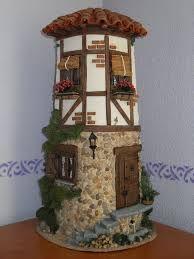 tejas decoradas - Buscar con Google Clay Fairy House, Fairy Houses, Clay Houses, Miniature Houses, Decoupage, Tile Crafts, Clay Fairies, Ideias Diy, Clay Tiles