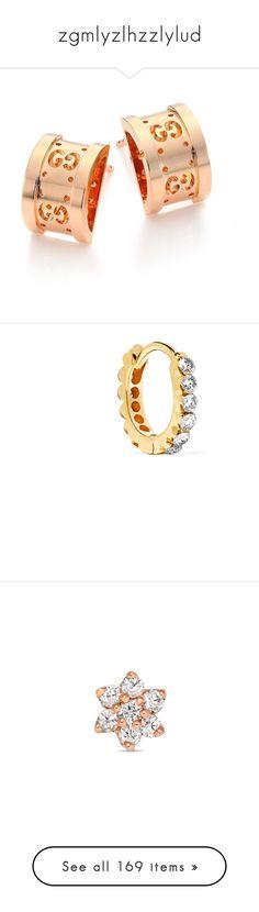 """zgmlyzlhzzlylud"" by blenm ❤ liked on Polyvore featuring jewelry, earrings, gucci, 18k earrings, gucci jewelry, post back earrings, gucci jewellery, earrings fine jewelry, 18 karat gold stud earrings and diamond stud earrings"