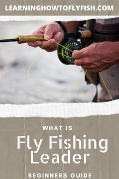 What exactly is a fly fishing leader? The will break down fly fishing leaders in a short and easy to understand article. If you have been wanting to learn about fly fishing, this is the place for you. Fly Fishing Gear, Fishing Tools, Sport Fishing, Best Fishing, Fishing Equipment, Fishing Lures, Fishing 101, Fishing Tricks, Women Fishing
