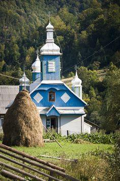 Blue Ukrainian Church - Komsomolsk