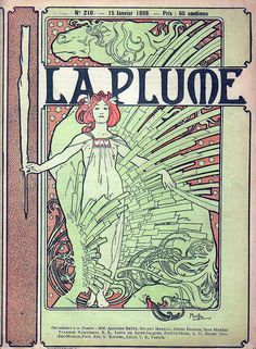 1898 La Plume by Mucha Flickr - Photo Sharing