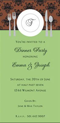 Inviting Company Dinner Party Invitations Green And Brown Invco Tl37 63 Op M