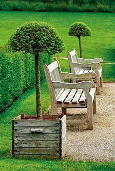 Garden Benches Planters, Great Idea!!