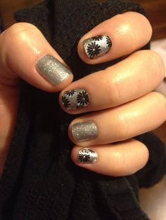 Flapper and Diamond Dust Sparkle #Jamberry #Fall #Winter #2015 #Style #Nails…