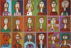 Kids Artists: Just like Modigliani. I love this as a first day selfie!